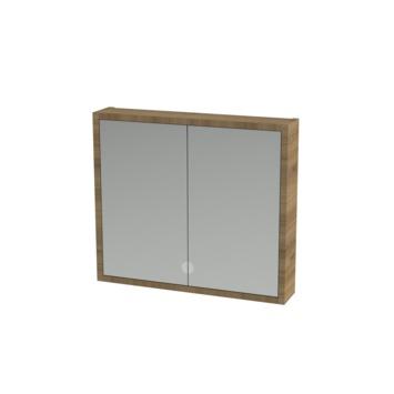 Tiger boston spiegelkast 80 cm chalet eiken kopen for Spiegelkast 80 cm