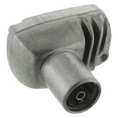 Q-Link coax stekker metaal haaks female kabelkeur
