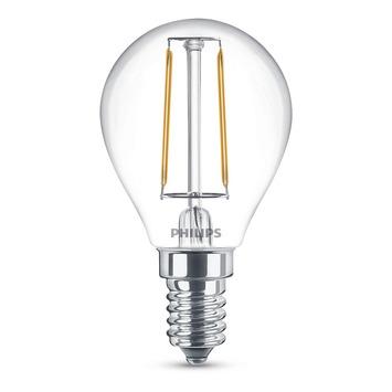 Philips led filament kogel E14 2W=25W