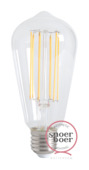 Snoerboer LED-filament edison 4W E27 dimbaar clear glass
