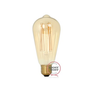 Snoerboer LED-filament edison 4W E27 dimbaar gold glass