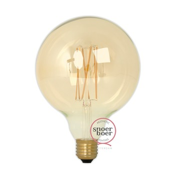 Snoerboer LED Ø125mm globe 4W E27 dimbaar gold glass