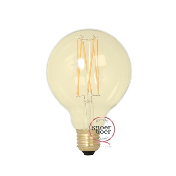 Snoerboer LED Ø 95mm globe 4W E27 dimbaar gold glass