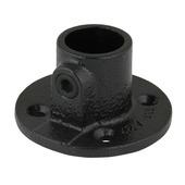 Novidade steigerbuis koppelstuk ronde voetplaat 27 mm zwart
