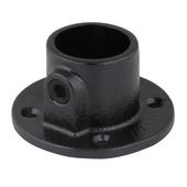 Novidade steigerbuis ronde voetplaat 42 mm zwart