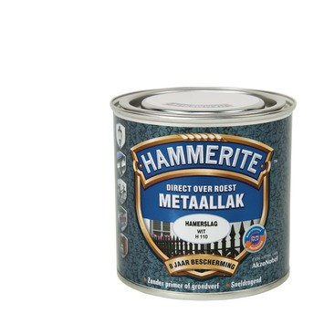 Hammerite Direct over Roest metaallak hamerslag wit 250 ml