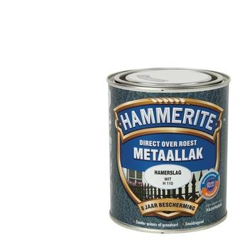 Hammerite Direct over Roest metaallak hamerslag wit 750 ml