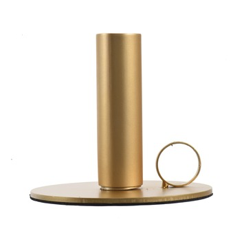 Kandelaar messing goudlook Ø9x11 cm