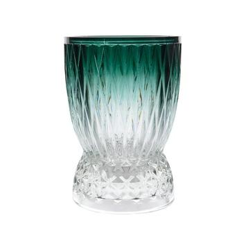 Theelichthouder glas groen Ø17x24 cm