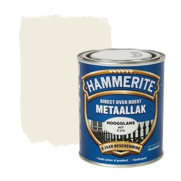 Hammerite Direct over Roest metaallak hoogglans wit 750 ml