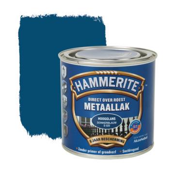Hammerite Direct over Roest metaallak hoogglans donkerblauw 250 ml