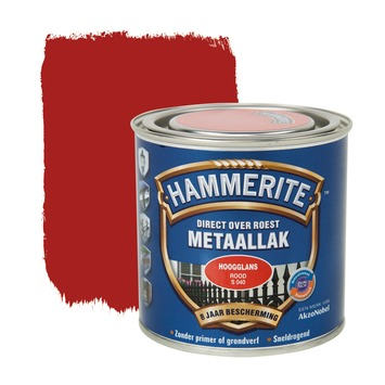 Hammerite Direct over Roest metaallak hoogglans rood 250 ml