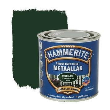 Hammerite Direct over Roest metaallak hoogglans donkergroen 250 ml