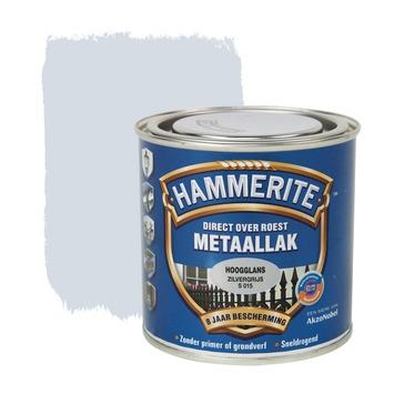 Hammerite Direct over Roest metaallak hoogglans zilvergrijs 250 ml