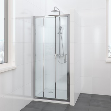 Bruynzeel Lino schuifdeur 3-delig 90x195cm chroom