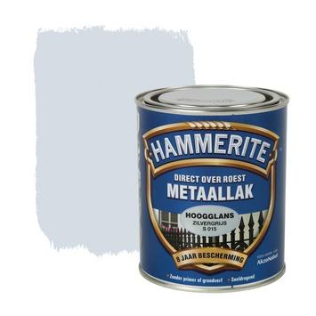 Hammerite Direct over Roest metaallak hoogglans zilvergrijs 750 ml