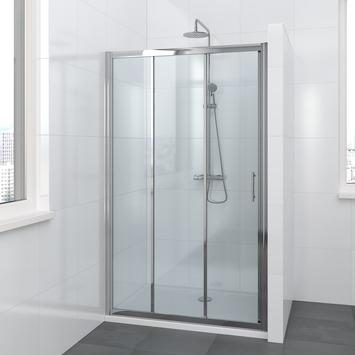 Bruynzeel Lino schuifdeur 3-delig 110x195cm chroom