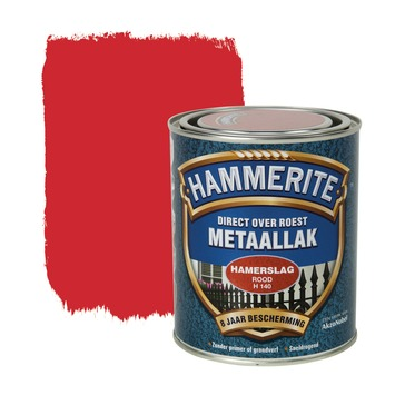 Hammerite Direct over Roest metaallak hamerslag rood 750 ml