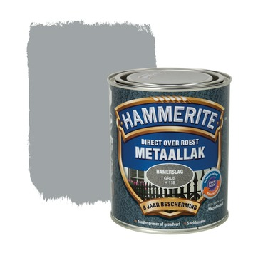 Hammerite Direct over Roest metaallak hamerslag grijs 750 ml