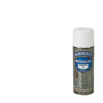 Hammerite metaallak spuitlak hamerslag wit 400 ml