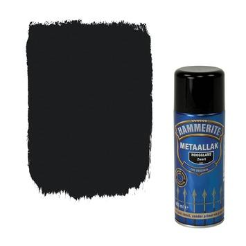 Hammerite metaallak spuitlak hoogglans zwart 400 ml
