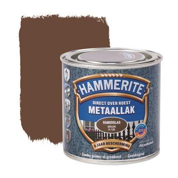 Hammerite Direct over Roest metaallak hamerslag bruin 250 ml