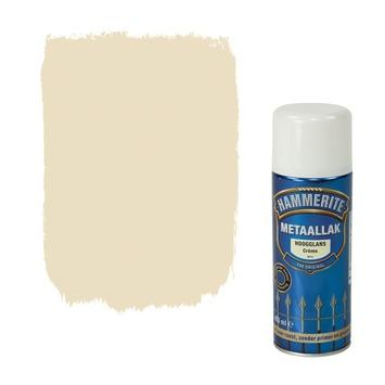 Hammerite metaallak spuitlak hoogglans crème 400 ml