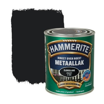 Hammerite Direct over Roest metaallak zijdeglans zwart 750 ml