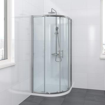 Bruynzeel Lino douchecabine kwartrond 90x195cm chroom
