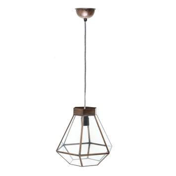 Hanglamp Tessa glas antiek brons