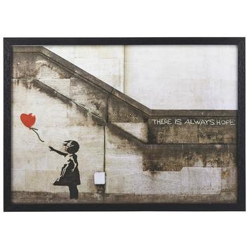 Schilderij Banksy Balloon 46x64 cm