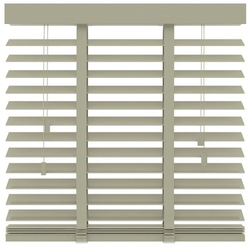 KARWEI horizontale houten jaloezie leem (945) 120 x 220 cm - 50 mm