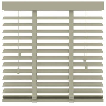 KARWEI horizontale houten jaloezie leem (945) 200 x 220 cm - 50 mm