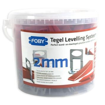 Foby levelling systeem starterskit 2 mm met clips, spieën en tang