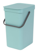 Brabantia afvalemmer Sort & Go 12l mint