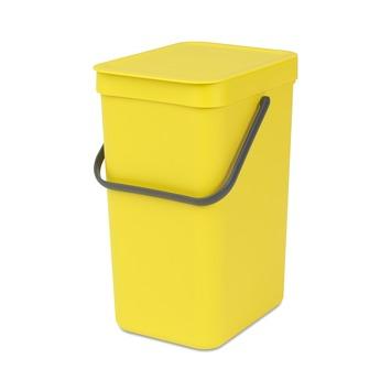 Brabantia afvalemmer Sort & Go 12l geel
