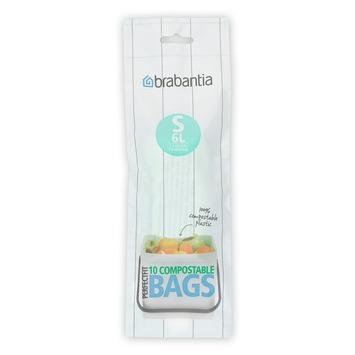 Brabantia afvalzak Perfect Fit S composteerbaar 6l 10 stuks