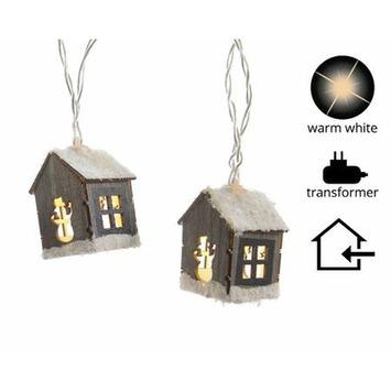 Huisjes 20 stuks met LED-verlichting, lengte snoer 300 cm kopen ...