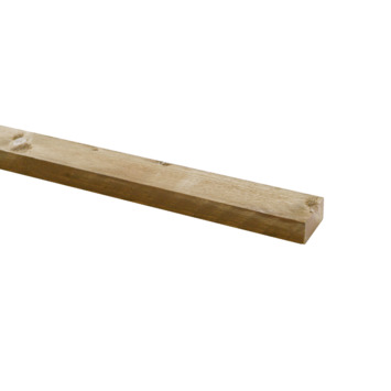Steigerhouten lat geborsteld ca. 30x62 mm, lengte 250 cm verouderd