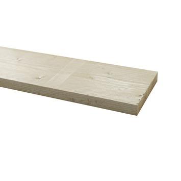 Steigerhout geborsteld ca. 32x200 mm, lengte 250 cm wit