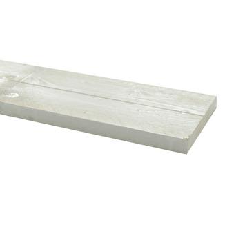 Steigerhout ca. 32x200 mm, lengte 250 cm wit