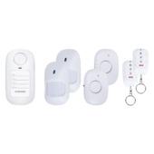 Smartwares Mini Alarmsysteem met 2 Bewegingsdetectoren 2 Magneetcontacten en 2 Afstandsbedieningen SC50-6