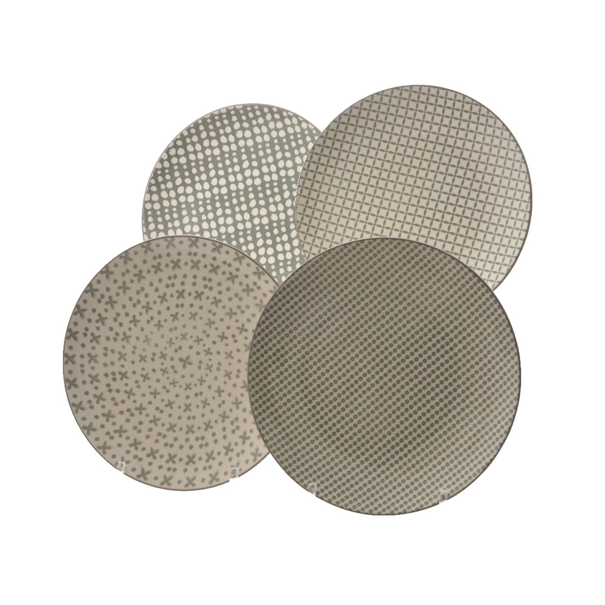 Bord porselein grijs print 22 cm keukenaccessoires huishoudelijk karwei - Porselein vloeren ...