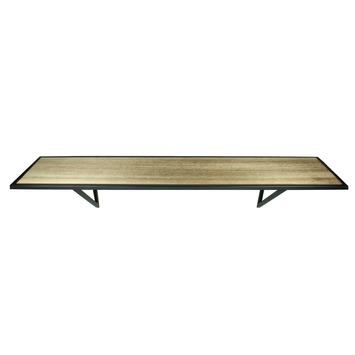 Wandplank Zwart Metaal Hout.Wandplank Hout Metaal 17x78x17 Cm Kopen Karwei