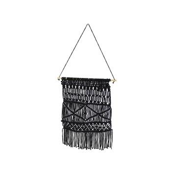 Muurdecoratie textiel zwart 53x48 cm