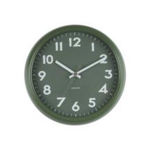 Karlsson wandklok Badge metaal groen 38x9 cm