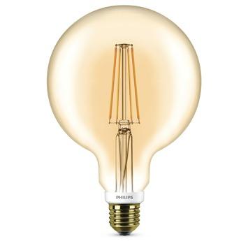 Philips LED Filament Globe Goud E27 7Wu003d50W Dimbaar