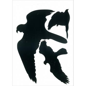 Pickup vogel glassilhouet zwart vel 3 stuks
