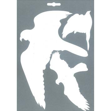 Pickup vogel glassilhouet wit vel 3 stuks