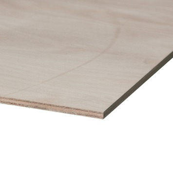 Okoumé garant hardhout multiplex 125x61 cm dikte 10 mm